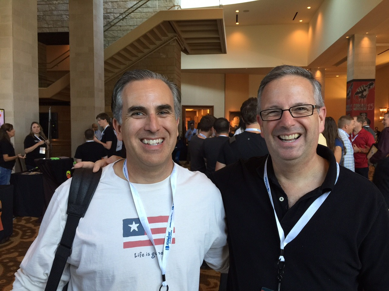 Tom with Michael Stelzner host of the Social Media Examiner Show