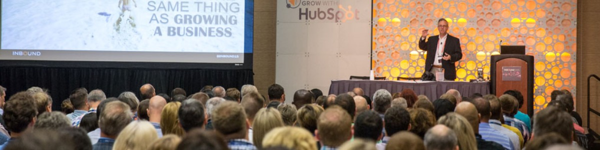 @TMSchwab shares his Inbound journey to a packed audience #inbound15